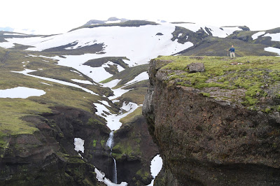 "Start of Þakgil (Thakgil) ""Canyon"" Looking Toward Glacier"