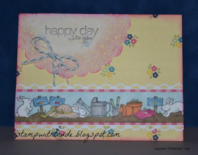 #stampinup, Trude Thoman, Best Borders, Throwback Thursday, greeting card