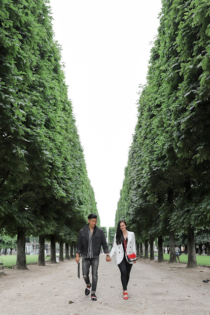 Alicia Mara and Leo Chan at Jardin du Luxembourg in Paris