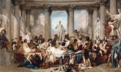 Thomas Couture - les romains de la décadence,salon de 1847.