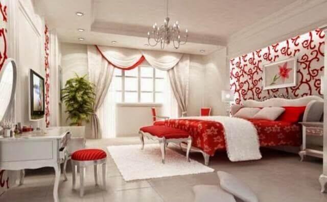 Romantik yatak odası dekorasyon örnekleri