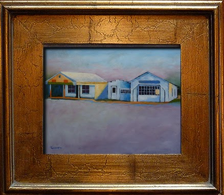 Huckstep's Garage Twomey Oil Painting