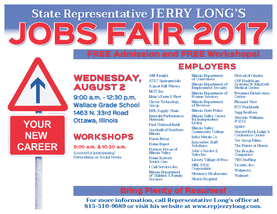 Illinois State Representative Jerry Long: Jobs Fair 2017