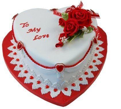 Sweet Romantic Birthday Cake