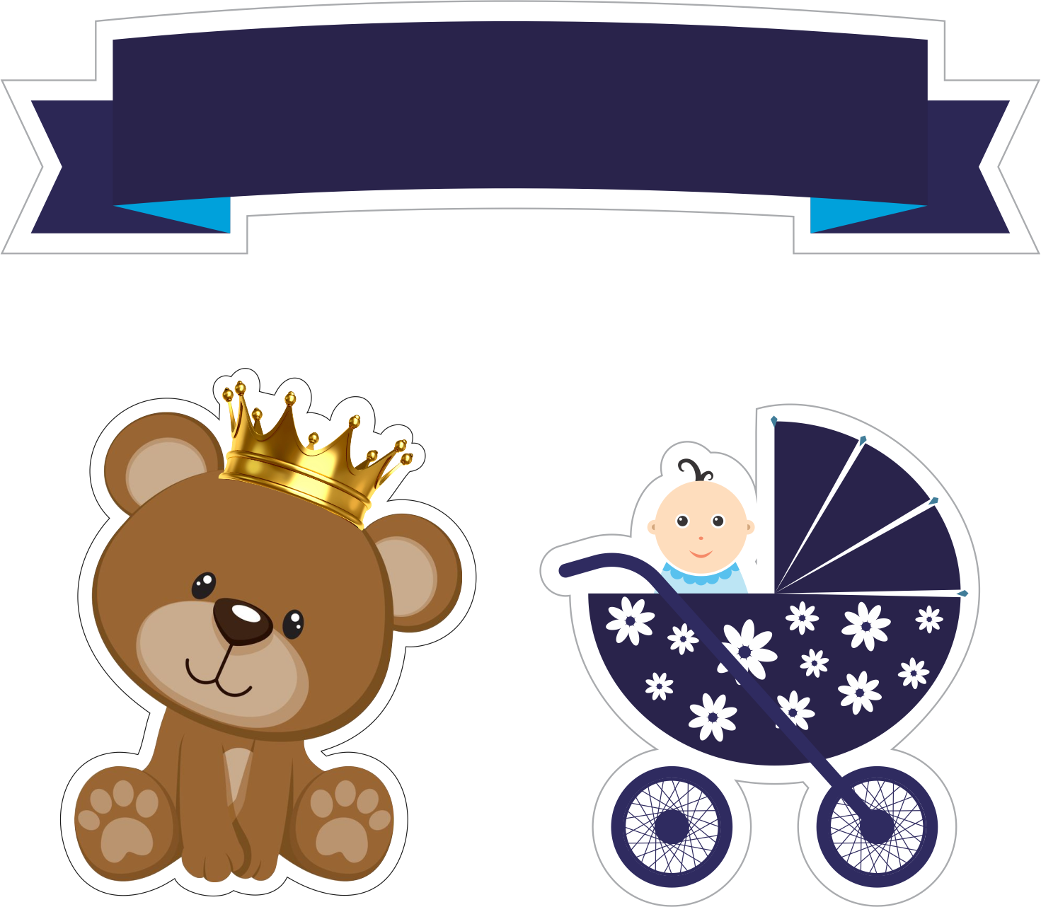 Prince Baby Bear Free Printable Cake Toppers Oh My Baby