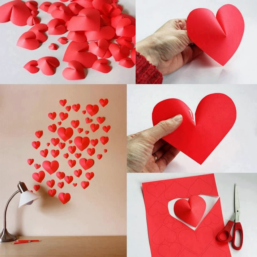 Decorar Con Corazones Una Pared Decoracion - Corazones-de-decoracion