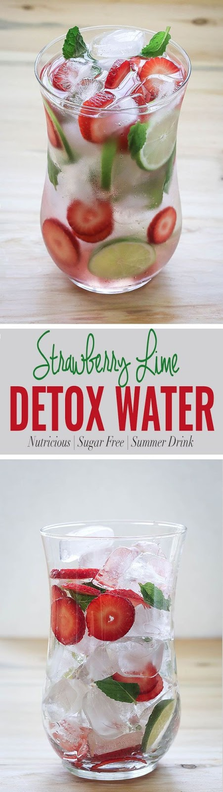 Detox Strawberry Water Drink - Healthy Recipes