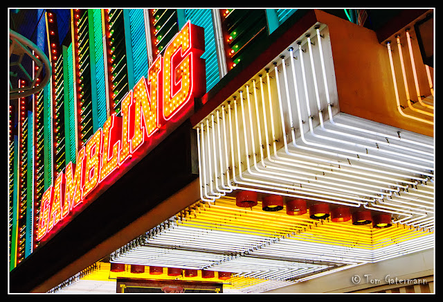 A Gambling Sign On Fremont Street In Las Vegas.