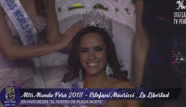 miss mundo world peru 2018 winner estefany mauricci
