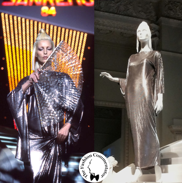 Donne protagoniste del Novecento - Patty Pravo - Gianni Versace oroton dress for Sanremo 84 - Galleria del Costume Firenze