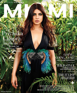 Priyanka Chopra looks awesome on Cover Page of Miami magazine May June 2017 issue