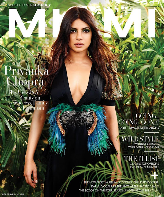 Priyanka Chopra On The Cover Of Miami Magazine May-June 2017 Issue