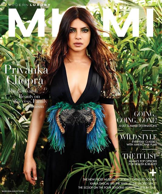 Priyanka Chopra On The Cover Of Miami Magazine May-June 2017 Issue