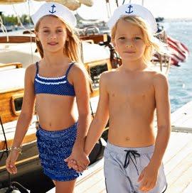 trajes de baño infantiles 2012 Calzedonia