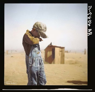Dust Bowl, 1936 foto retocada a color