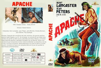 Cover, caratula, dvd: Apache | 1954