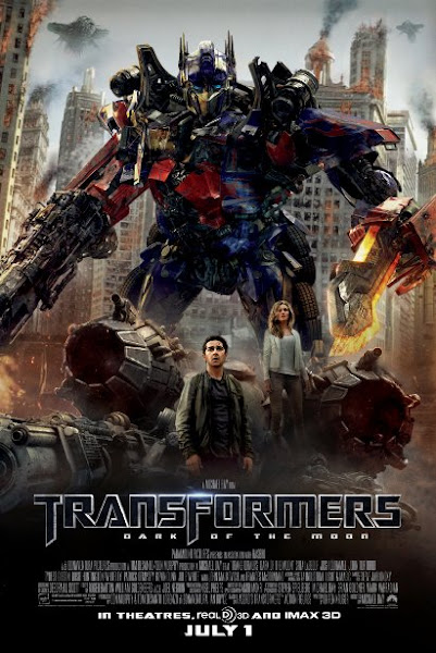 Poster Of Transformers 3 Dark of Moon 2011 720p Hindi BRRip Dual audio