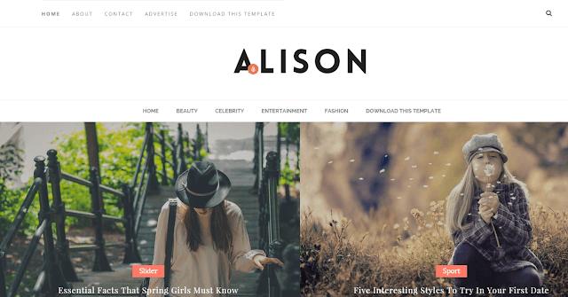 Alison Blogger Template: