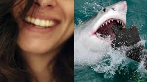 Human teeth and shark teeth