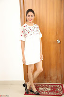 Lavanya Tripathi in Summer Style Spicy Short White Dress at her Interview  Exclusive 303.JPG