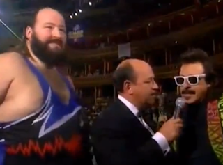 WWF / WWE: Battle Royal at the Royal Albert Hall: Jimmy Hart and Earthquake talk to Mean Gene Okerlund