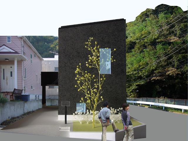 光に満たされる高天井の上品な黒い家 外観イメージ 側面
