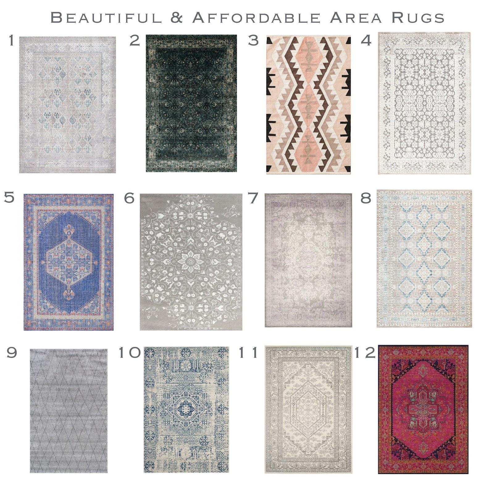 Beautiful And Affordable Area Rug Round Up Sita