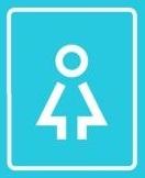 Табличка на двери. Женский туалет. Математика для блондинок.