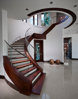 spiral staircase designs attached to wall