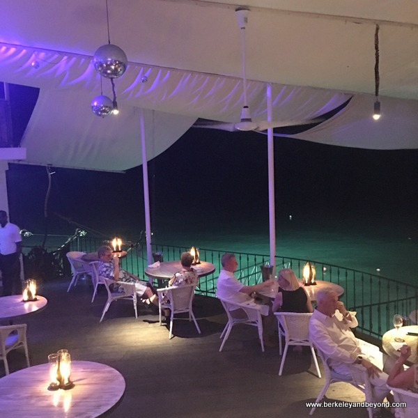 dining deck at The Cliff Beach Club in Barbados