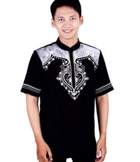 Baju koko kombinasi batik Terbaru