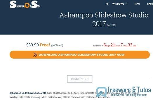Offre promotionnelle : Ashampoo Slideshow Studio 2017 gratuit !
