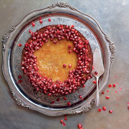 Eric Lanlard clementine and pomegranate cake