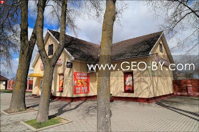 Заславль. Бывшее здание советской пограничной заставы