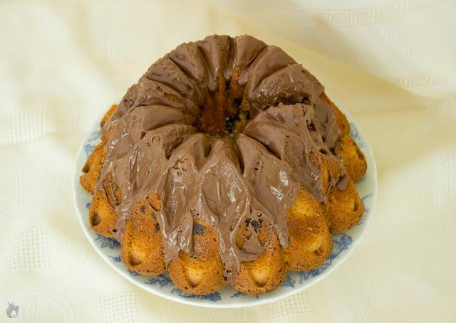 Bundt Cake de vainilla y chocolate al caramelo