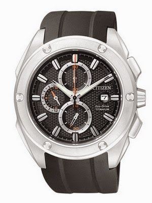 CITIZEN MEN'S ECO-DRIVE SUPER TITANIUM CA0210-00E
