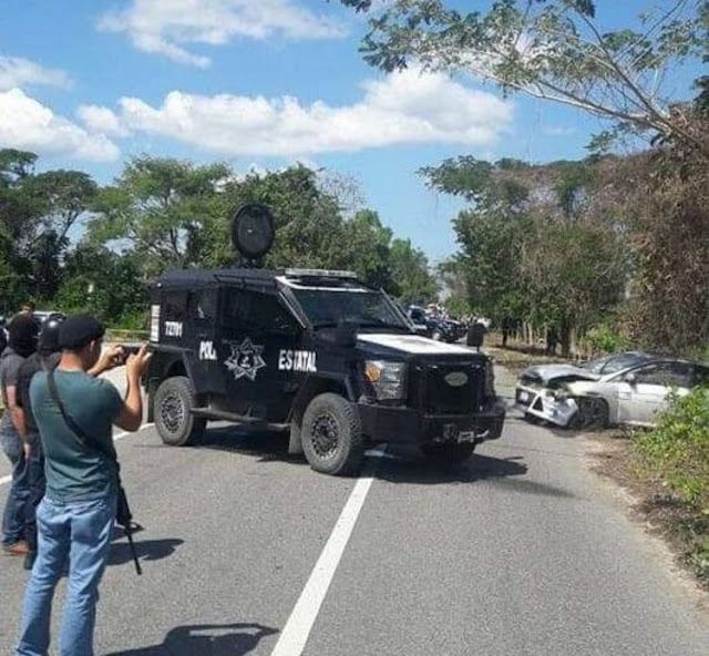 """Video: Policías abaten a """"jefe de plaza"""" y a su escolta en enfrentamiento en Tabasco"""