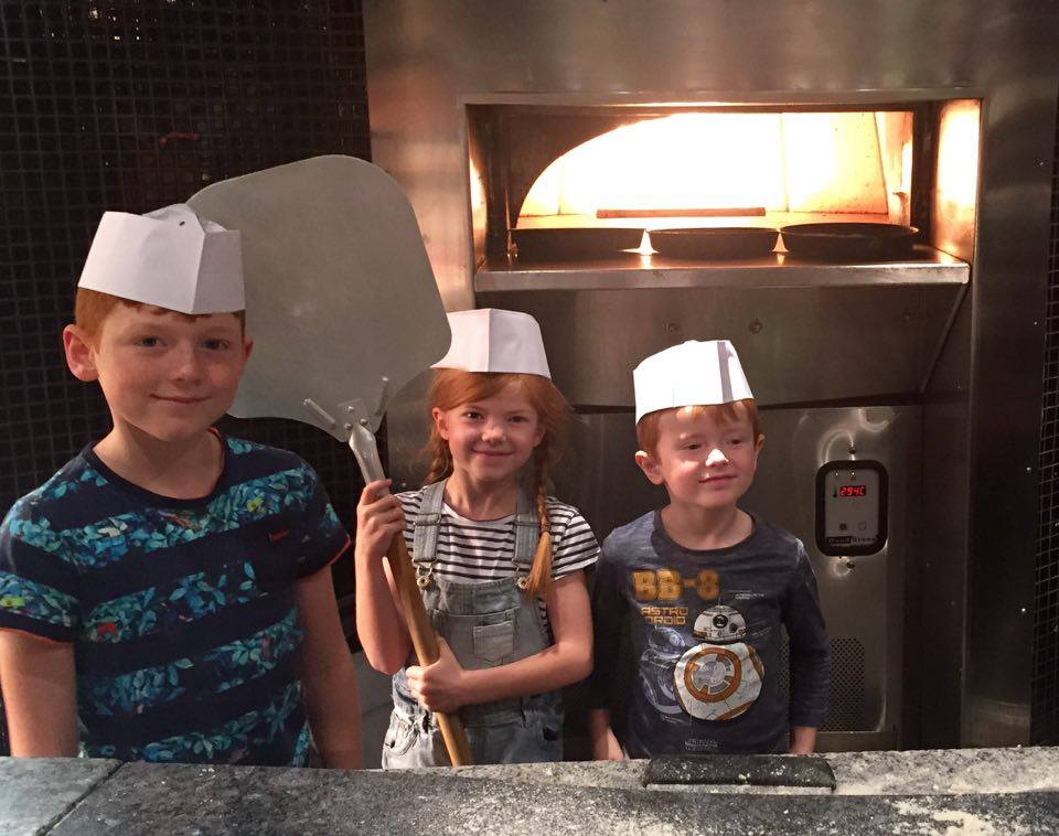 Pizza Making at Babucho Newcastle | Children's Menu & Lunch Review - pizza chefs