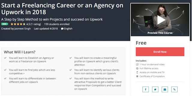 [100% Free] Start a Freelancing Career or an Agency on Upwork in 2018