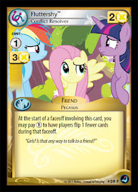 My Little Pony Fluttershy, Conflict Resolver High Magic CCG Card