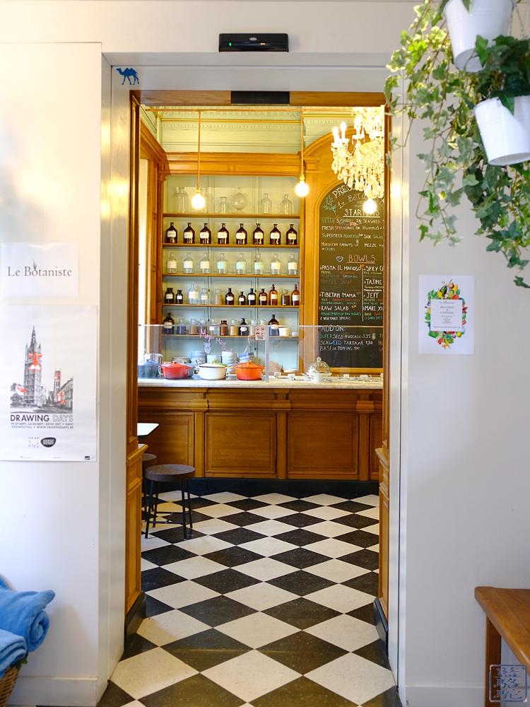 Le Chameau Bleu - Blog Voyage Restaurant Gand Belgique - Entrée du restaurant Bio Le botaniste Gent