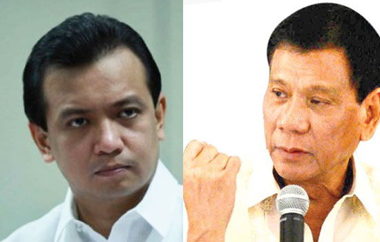 Duterte vs. Trillanes at BPI Julia Vargas on May 2, 2016
