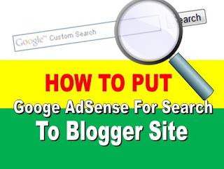 Cara Pasang Google AdSense Berbentuk Kotak Pencarian Di Blogspot