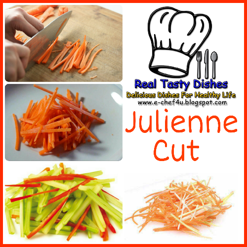 Different Types Of Vegetable Cuts Used In Kitchen By Chef