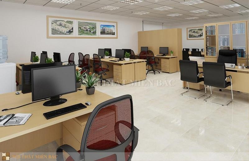 Thiết kế văn phòng giá rẻ đảm bảo công năng sử dụng