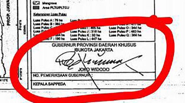 Beredar, Jokowi Teken Peta Reklamasi di Jakarta Usai Bantah Keluarkan Aturan