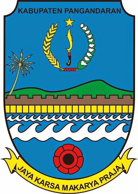 Logo Kabupaten Pangandaran berdasarkan Perbup Pangandaran Nomor 4 Tahun 2013 tentang Lambang Daerah