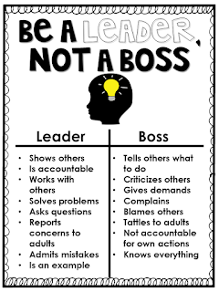First Days of School: Teaching Leadership vs. Bossiness