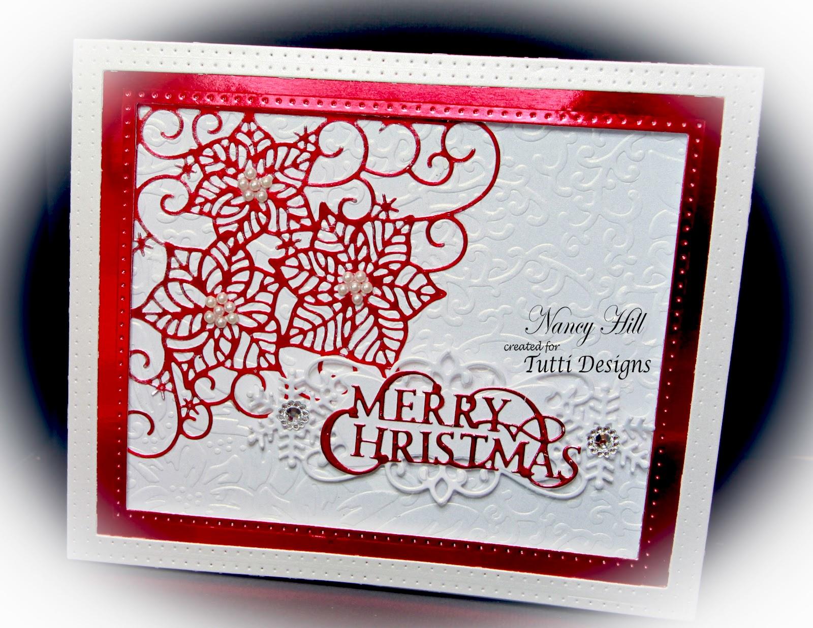 tutti designs christmas poinsettia card