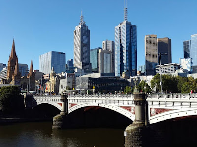 Central Business District of Melbourne in Australia